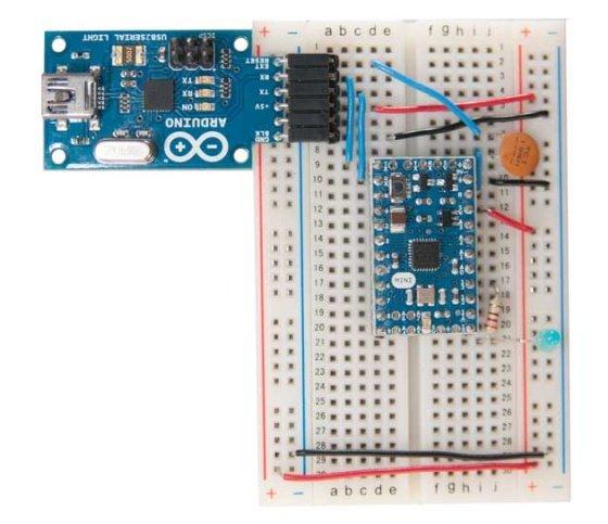 USB 2 Serial Converter (USB Micro) zapojení