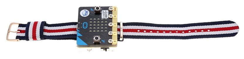 Akrylový držák s páskem pro Power:bit