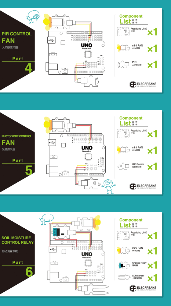 Arduino Starter Kit (pro začátečníky) projekty 4-6