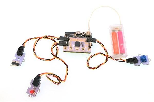 BBC micro:bit Basic Kit zapojení projektu