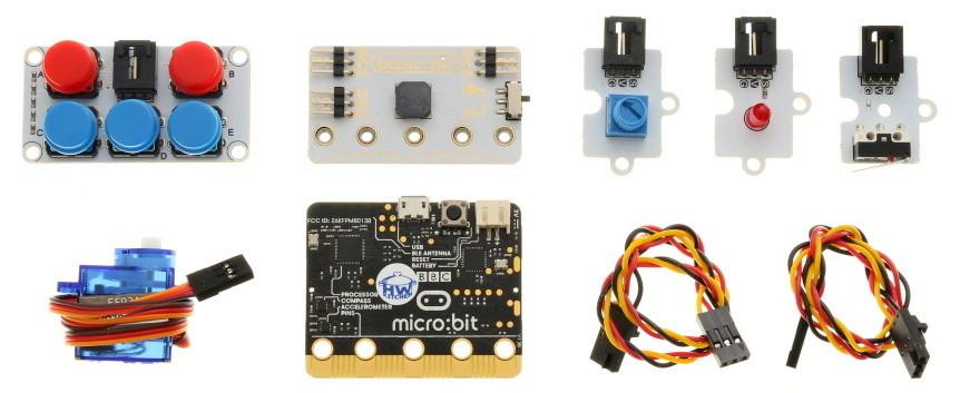 BBC micro:bit Basic Kit součásti