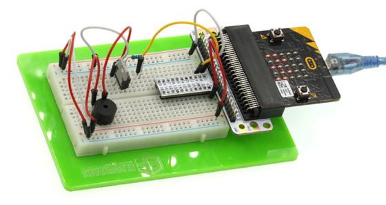 BBC micro:bit Starter Kit - mikrobit projekt se bzučákem