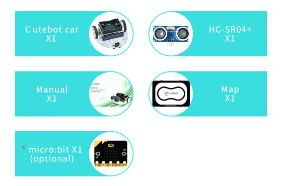 Cutebot - Micro:bit chytré auto součásti balení