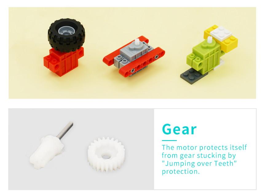 Geekservo motor kompatibilní s LEGO použití