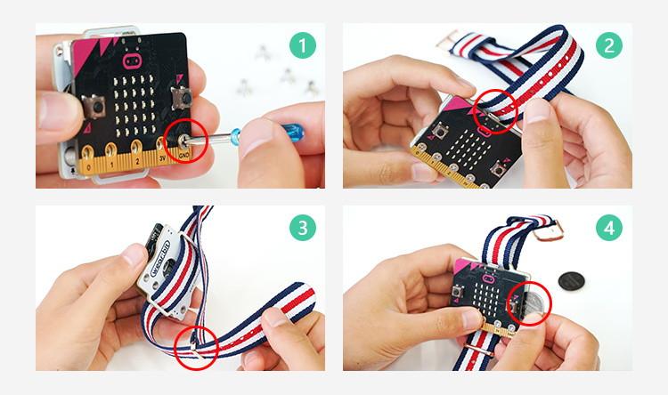 Micro:bit chytré hodinky (Smart Coding Kit) sestavení