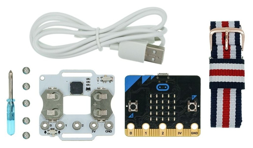 Micro:bit chytré hodinky (Smart Coding Kit) součásti
