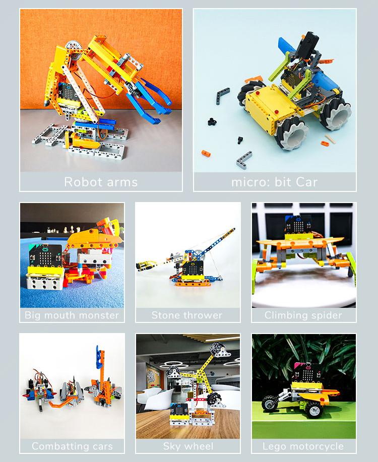 Micro:bit Mecanum bugina s pohybem 360° - bez modulu micro:bit LEGO projekty