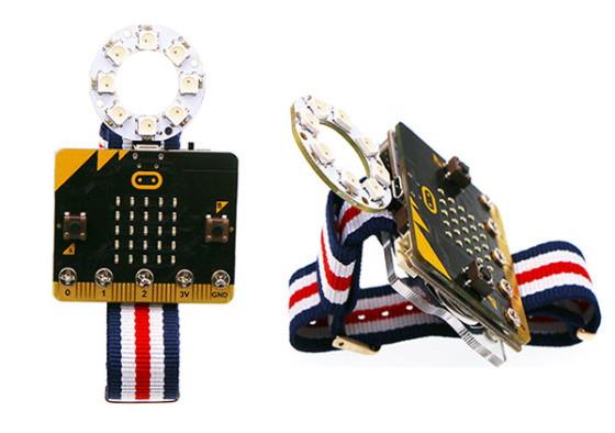 Power:bit kit pro micro:bit hodinky - instalace LED kroužku