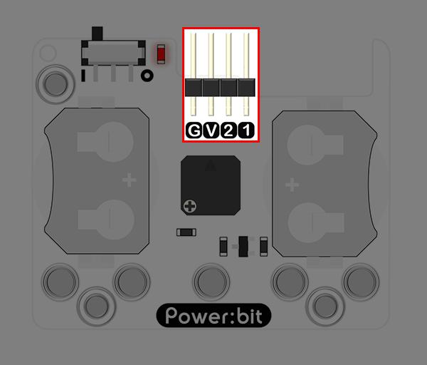 """Power:bit pro micro:bit - """"nositelný"""" napájecí modul - konektor"""