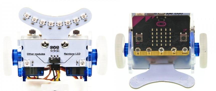 RGB LED duhový nárazník pro robota Ring:bit V2