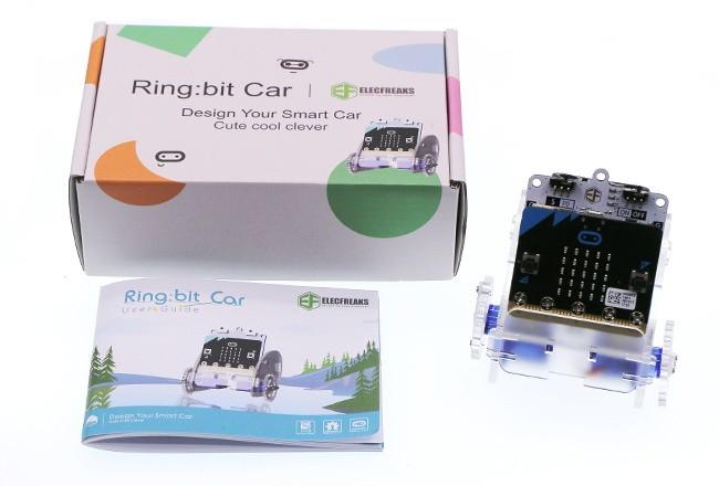Ring:bit - Micro:bit výukový robot pro děti - balení a robot