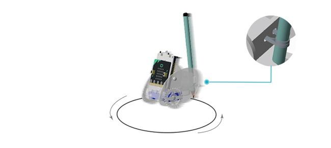 Ring:bit - Micro:bit výukový robot pro děti - kreslítko