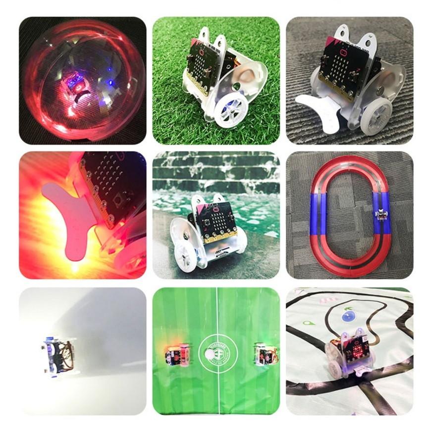 Ring:bit V2 - Micro:bit výukový robot pro děti příklady použití