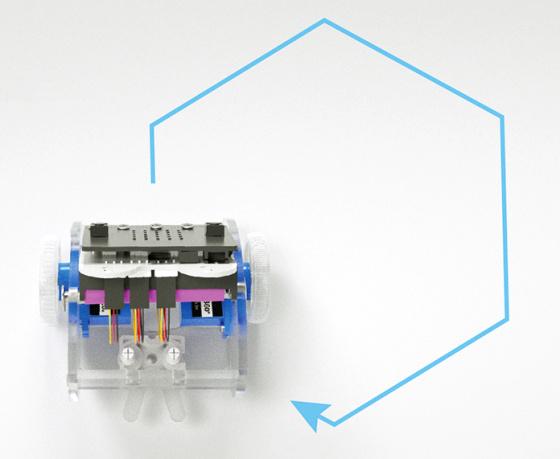Ring:bit V2 - Micro:bit výukový robot pro děti - příklad vozítko