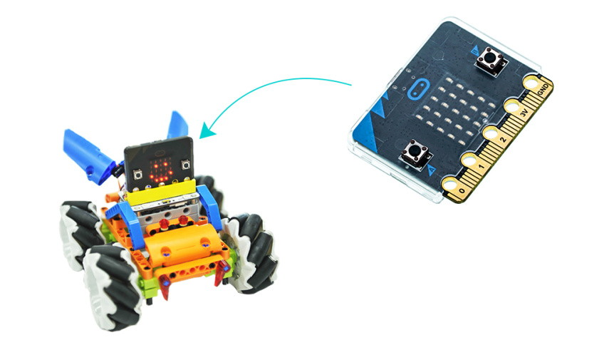 Super slim obal na Micro:bit pro Mecanum