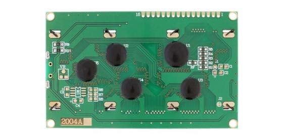 LCD displej 20x4 modrý s podsvětlením zespodu