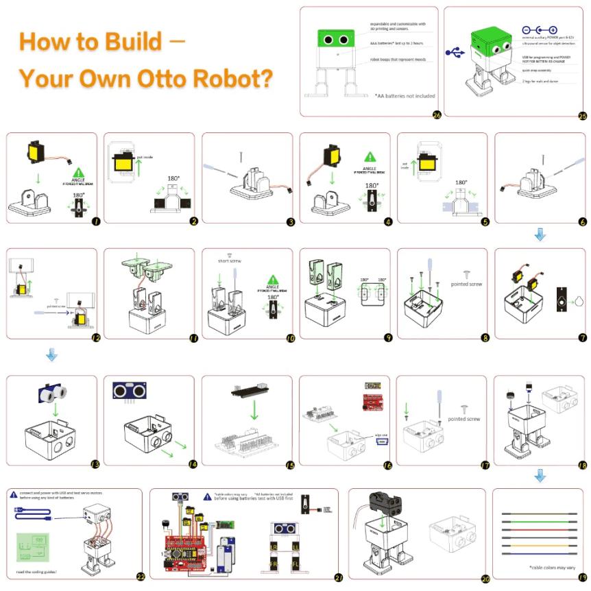 Starter Kit pro robota Otto DIY - postup sestavení