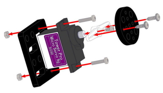 9g Micro Servo Pack sestavení