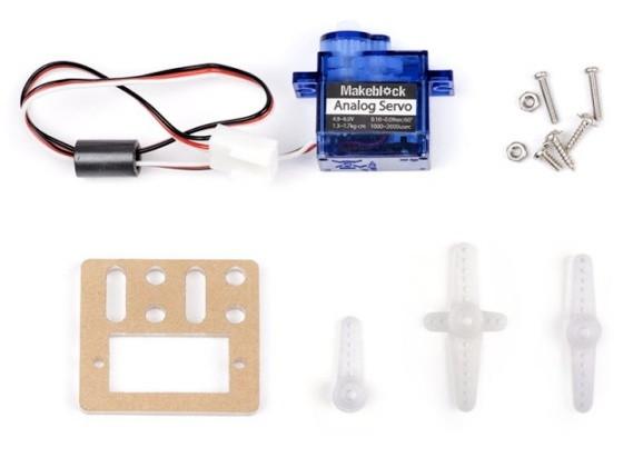 9g Micro Servo Pack součásti