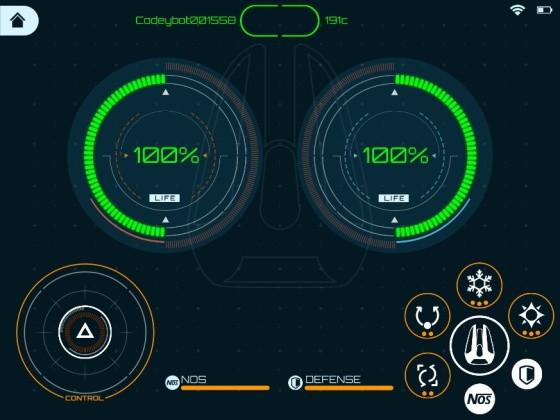Codeybot LED Laser kanón - prostředí