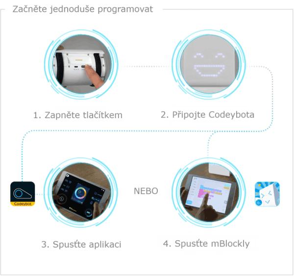 Codeybot - programovatelný robot - zprovoznění