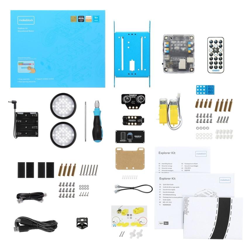 mBot Robot Explorer Kit součásti a díly stavebnice
