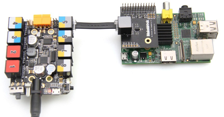Me Shield pro Raspberry Pi příklad zapojení