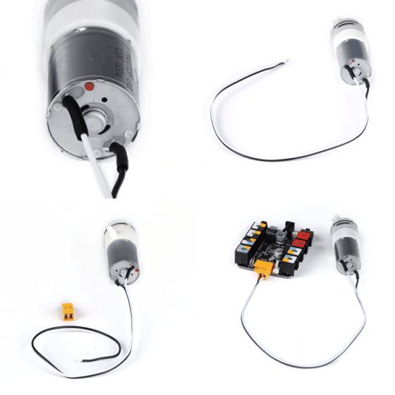 Univerzální napájecí kabely (pár) zapojení