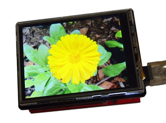 2.8'' TFT Touch Shield V2.0 příklad 1