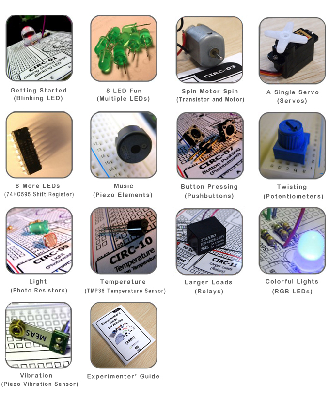 ARDX Starter Kit pro Arduino součásti
