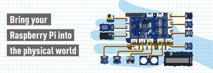 GrovePi+ Starter Kit pro Raspberry Pi zapojení